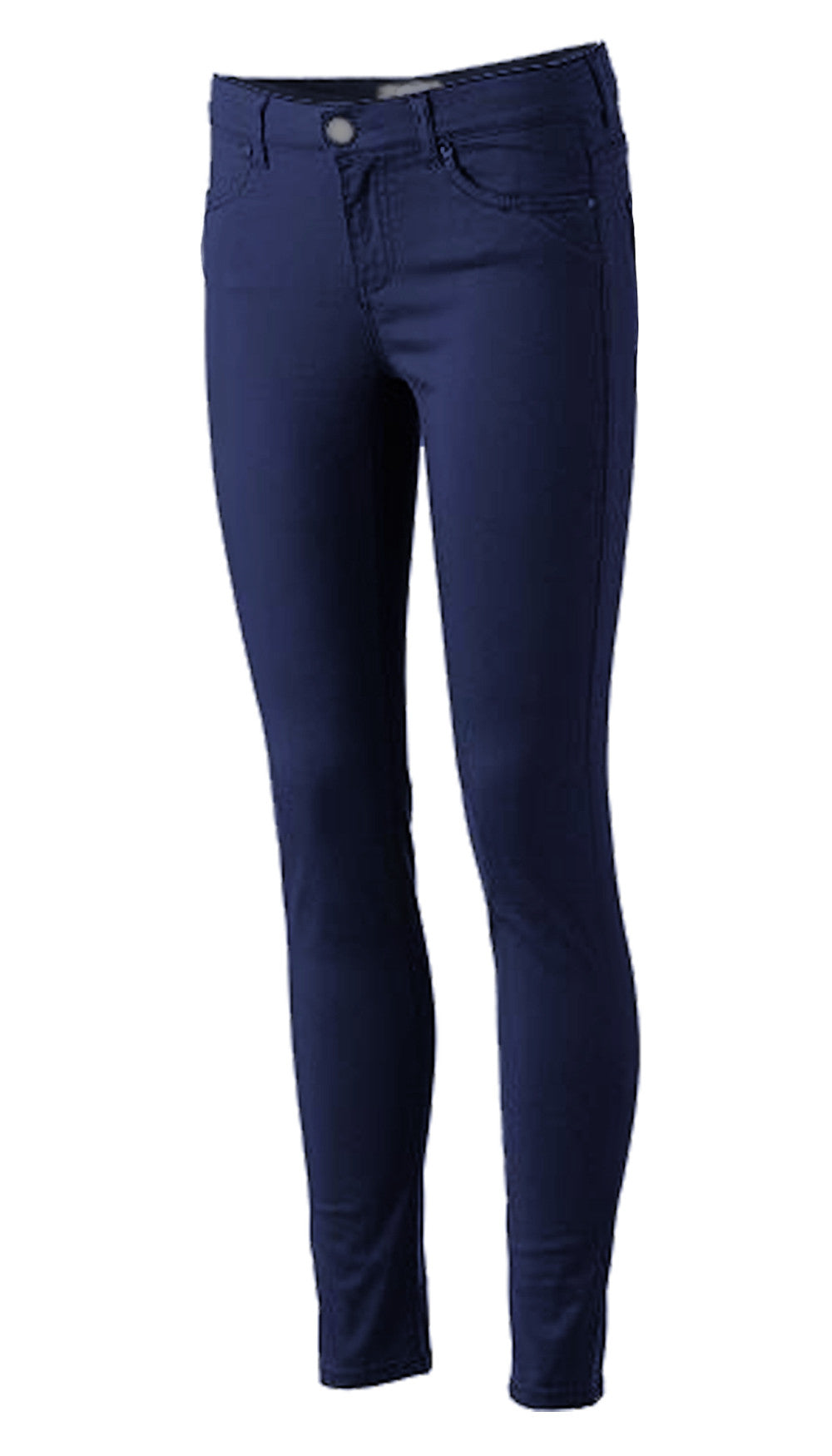 Girls Stretched Skinny Pants School Uniform Navy