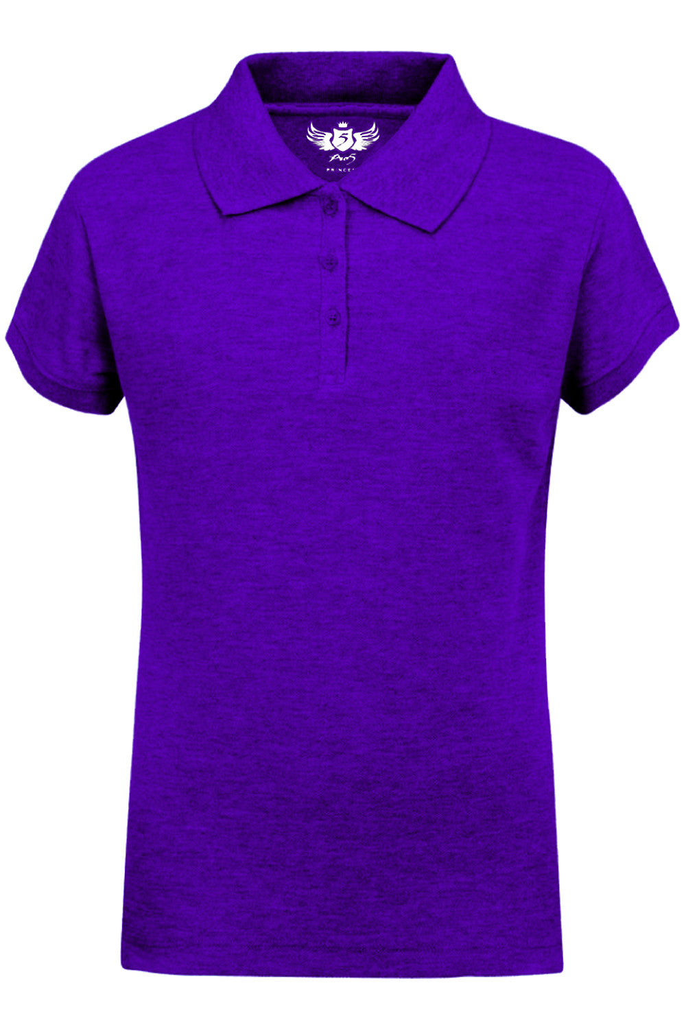 Girls Polo Top Kids School Uniform Purple