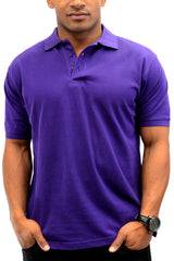 Classic Polo Shirt Men Shirts Purple