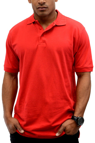 Classic Polo Shirt Men Shirts Red 2XL 3XL 4XL 5XL
