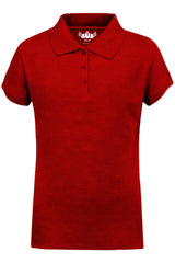 Girls Polo Top Kids School Uniform Red