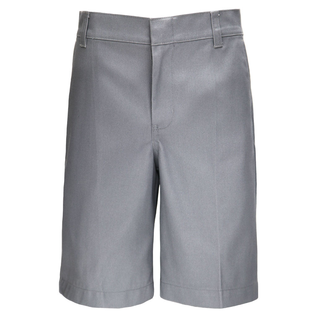 Boys Husky Fit Shorts School Uniform Grey