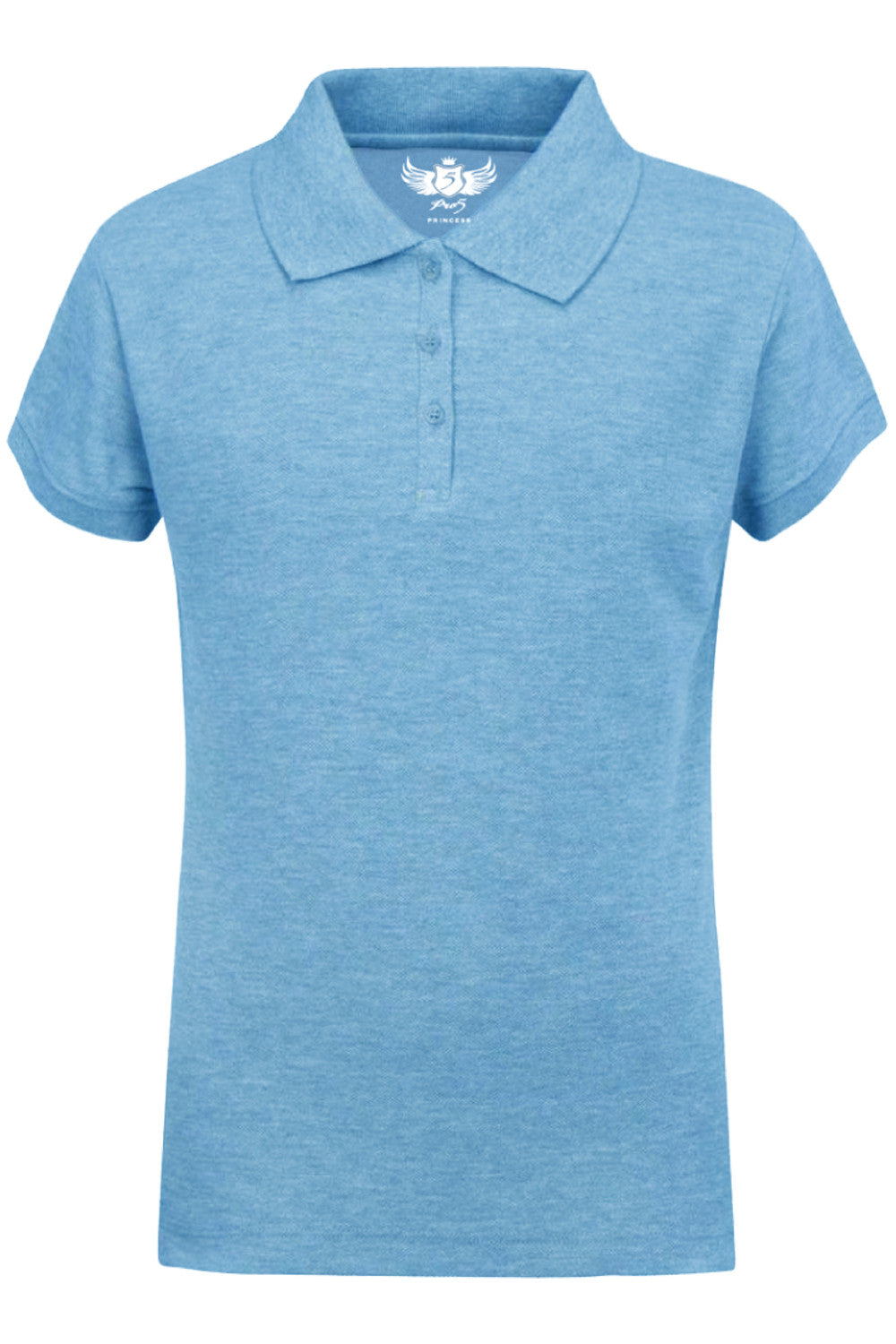 Girls Polo Top Kids School Uniform Sky Blue