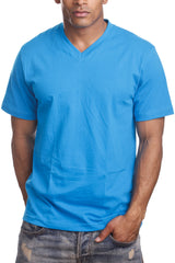 Mens Casual V-Neck T-Shirt Turquoise