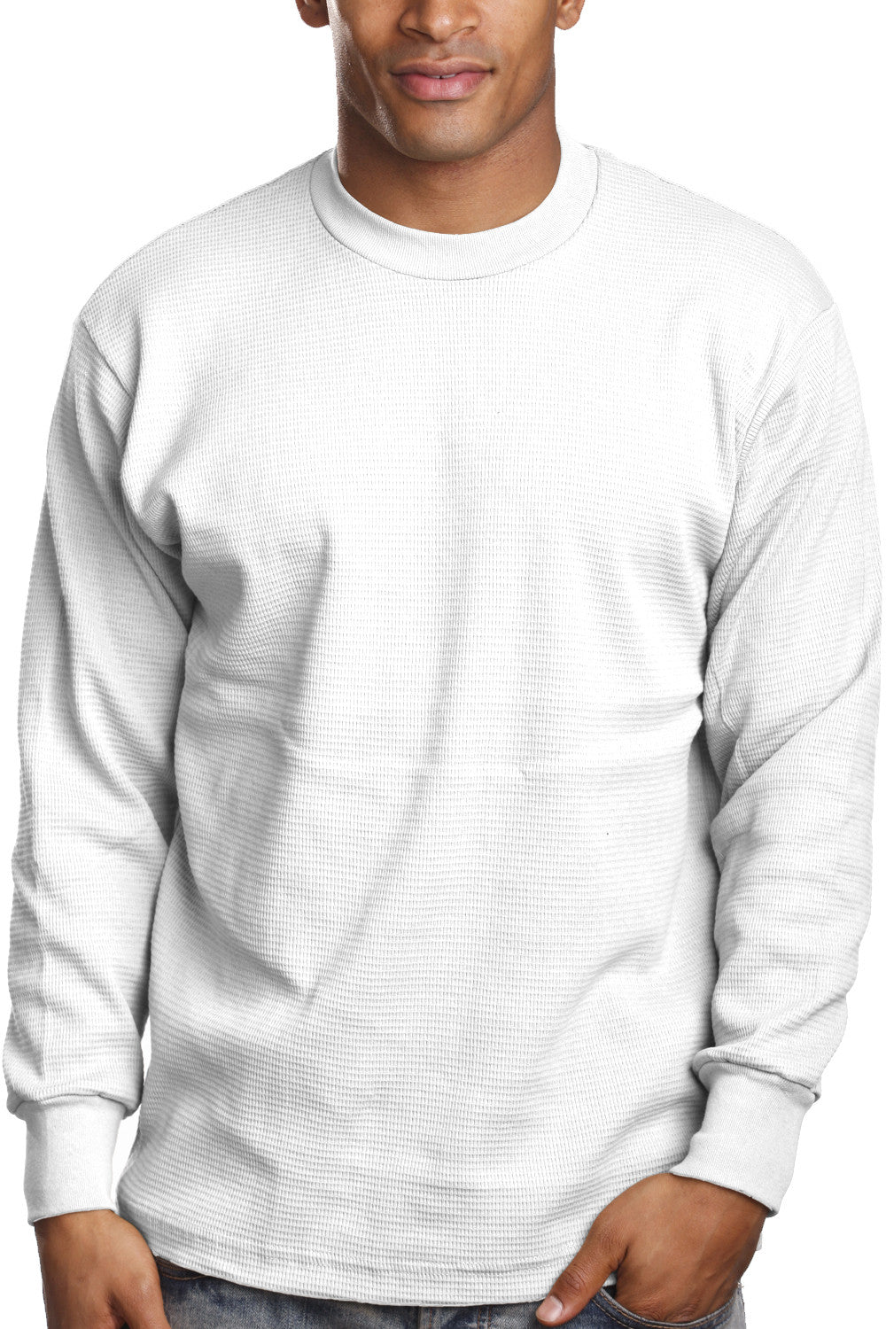 Thermal Knit Tops-White - Pro 5 Apparel