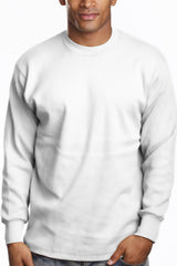 Mens Long Sleeve Super Heavy Shirt Tall Size White
