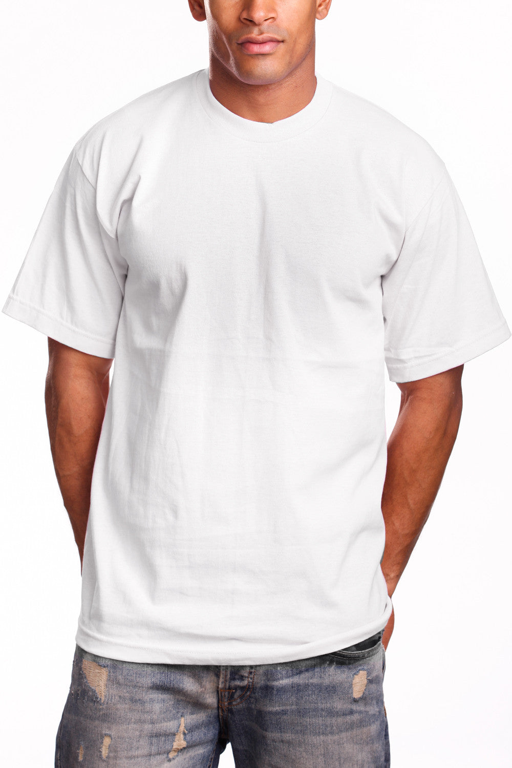 Mens Super Heavy T-Shirt Tee Shirts Tall Size White