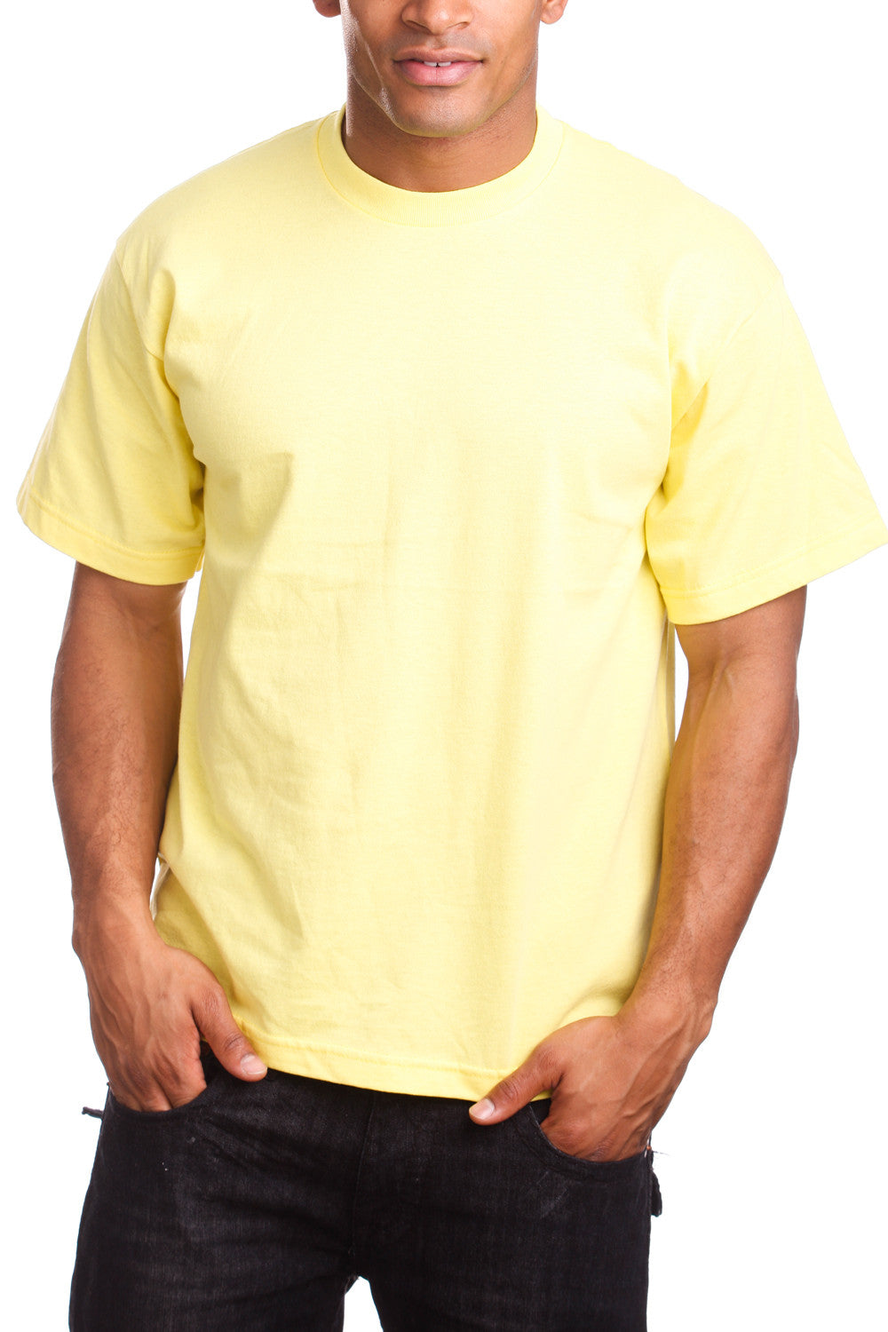 Mens Super Heavy T-Shirt Tee Shirts Tall Size Yellow