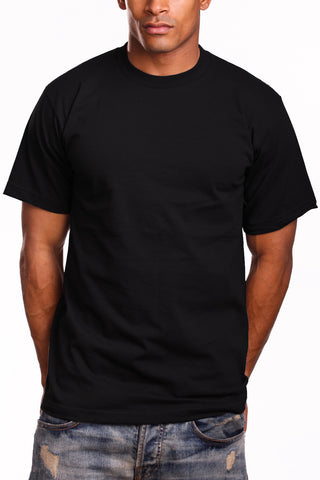 Mens Super Heavy T-Shirt Tee Shirts 2XL 3XL 4XL 5XL 7XL Black
