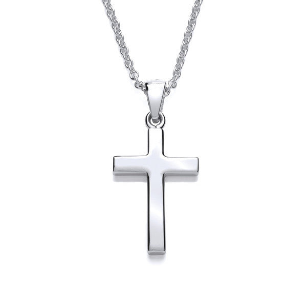 Petite Plain Latin style Cross with Chain
