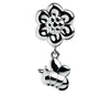 Wildlife - Flower & Butterfly Drop Charm