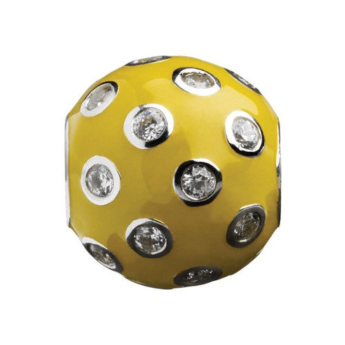 Glitz - Yellow Sparkle Ball Charm