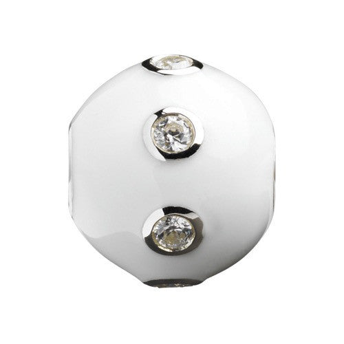 Glitz - White Sparkle Ring Ball Charm