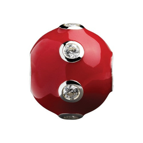 Glitz - Red Sparkle Ring Ball Charm