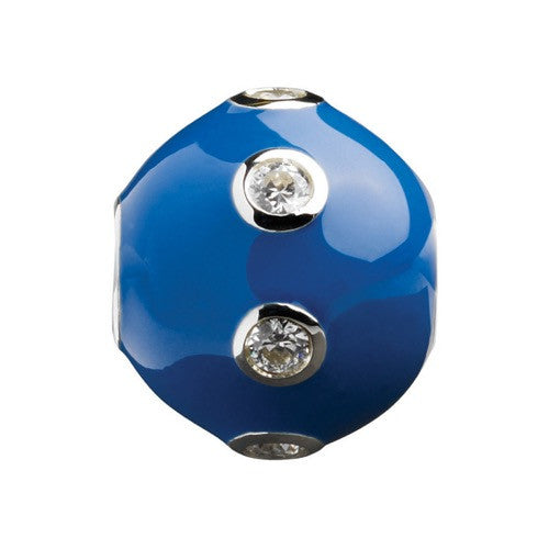 Glitz - Dark Blue Sparkle Ring Ball Charm