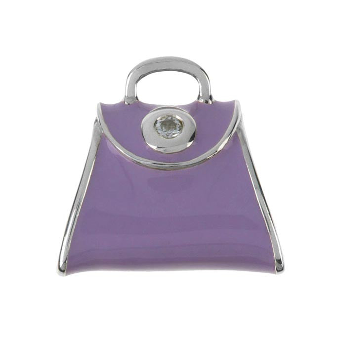 Fashion - Purple Posh Handbag Charm
