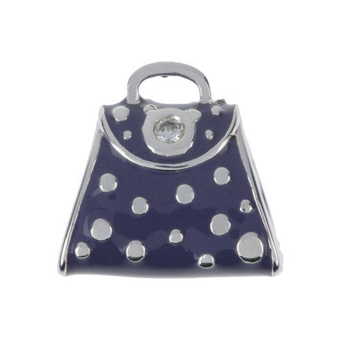 Fashion - Navy Dotty Handbag Charm