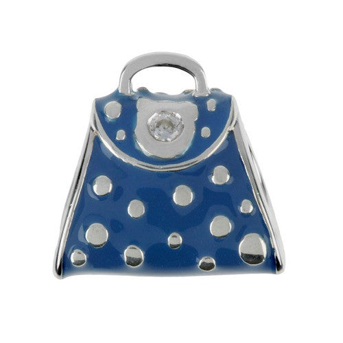 Fashion - Blue Dotty Handbag Charm