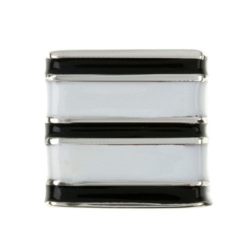 Sweetz - Black & White Stripes Allsortz Charm
