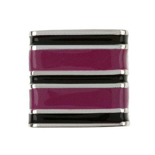 Sweetz - Black & Purple Stripes Allsortz Charm
