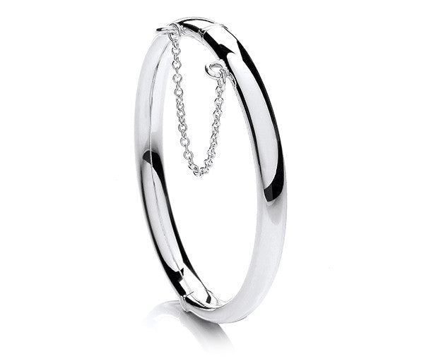 Child's Plain Hinged Oval Bangle