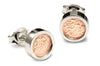 Accent Earrings With 9ct Rose Gold - Round