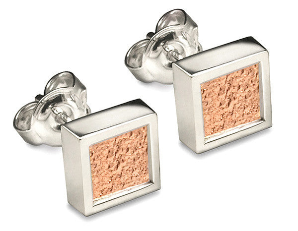 Accent Earrings With 9ct Rose Gold - Square