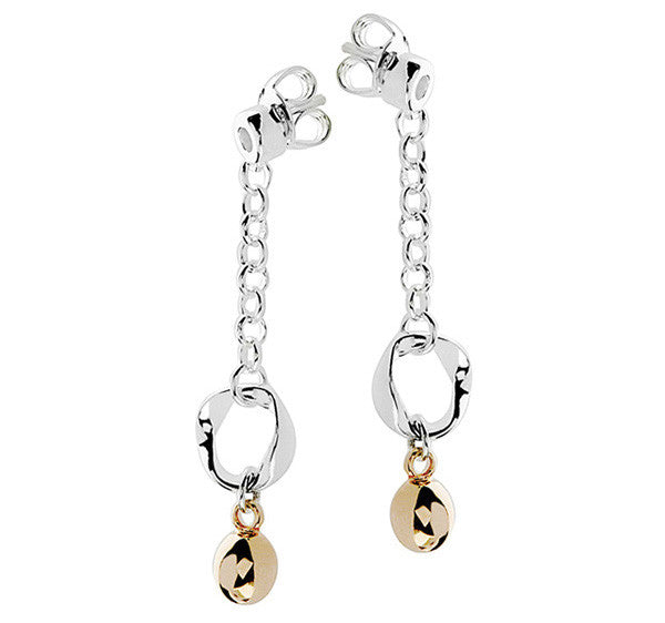 Eternal Drop Earrings With Mobius & 18ct Rose Gold Beads