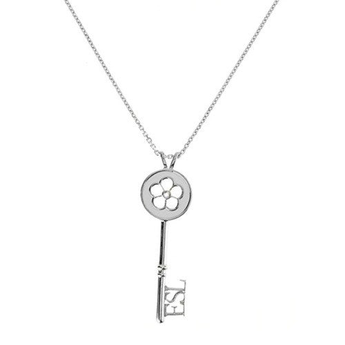 Eternal Enamelled Daisy Key Pendant - White