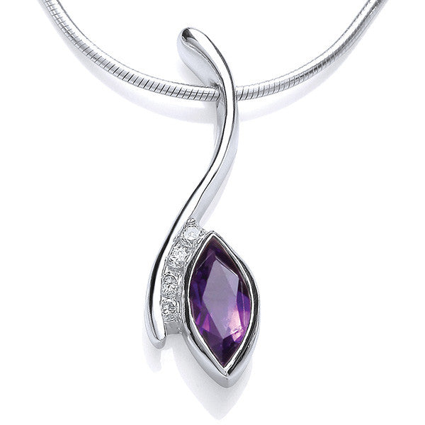 Accent Sway Pendant - Amethyst & CZ