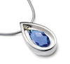 Accent Crystal Droplet Pendant With 9ct Gold Detail - Blue