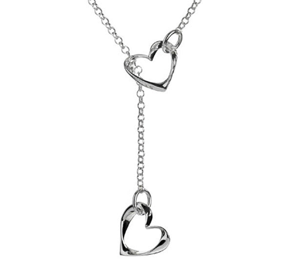 Eternal Twisted Hearts Lariat Necklace