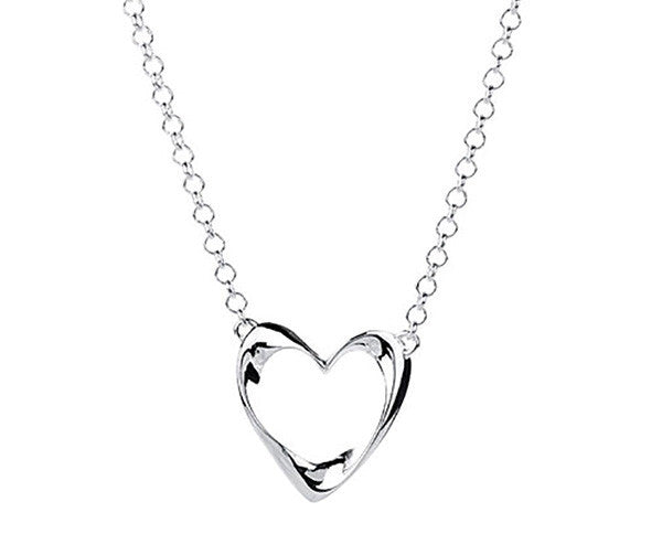 Eternal Necklace With Open Heart Pendant