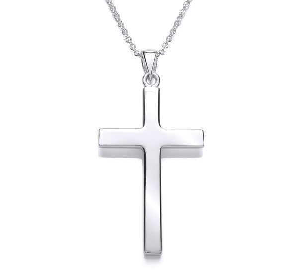 Medium Plain Latin Cross with Chain
