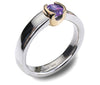 Accent 9ct Golden Cup Ring - Amethyst