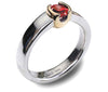 Accent 9ct Golden Cup Ring - Garnet