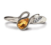 Accent Salsa Ring - Citrine & CZ
