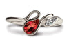 Accent Salsa Ring - Garnet & CZ