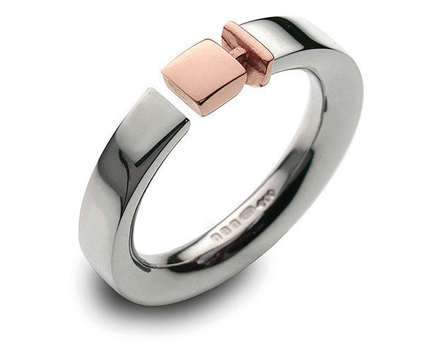 Accent Belt Ring With 9ct Rose Gold