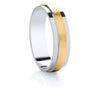 Two-Tone Promise Ring - Yellow Gold Satin Step