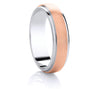 Two-Tone Promise Ring - Rose Gold Satin Ribbon