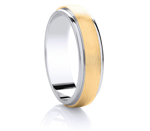 Two-Tone Promise Ring - Yellow Gold Satin Ribbon
