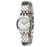 Eternal Silver Women's Watch - 23mm Round White Dial with Diamonds, Argentium Silver Bracelet