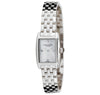 Eternal Silver Women's Watch - 23mm Rectangular White Dial with Diamonds, Argentium Silver Bracelet