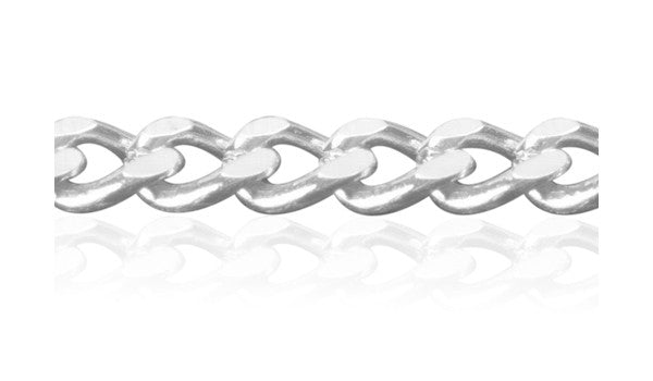 Diamond Cut Curb Chain Bracelet