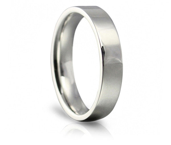 Classic Wedding Ring - 4mm Flat Court