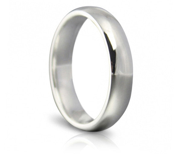 Classic Wedding Ring - 4mm Soft Court
