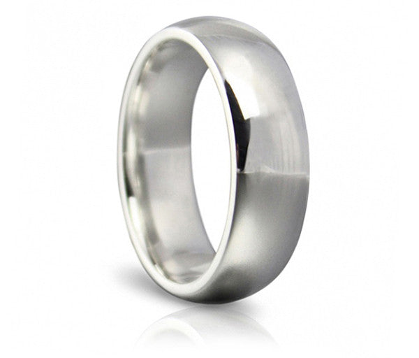 Classic Wedding Ring - 6mm Soft Court