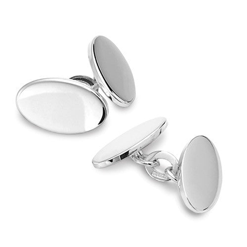 Classic Oval Personalised Cufflinks