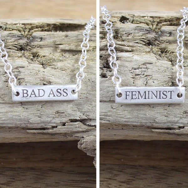 SPELL IT LIKE IT IS - Feminist/Bad Ass Flip over Bracelet